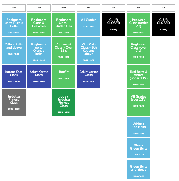 Timetable May 21